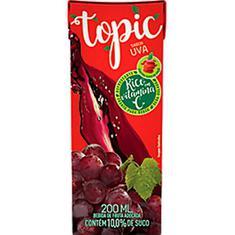 Bebida de Fruta Sabor Uva e Maçã Topic 200ml