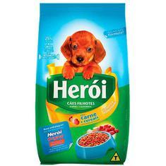 Alimento para Cães Filhotes Sabor Carne e Cereais Herói 2kg