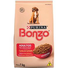 Alimento para Cães Adultos Sabor Carne e Cereais Bonzo 1kg