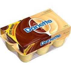 Sobremesa Láctea Chocolate ao Leite e Chocolate Branco Danette 1080g