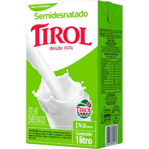 Leite Longa Vida Semidesnatado Tirol 1L