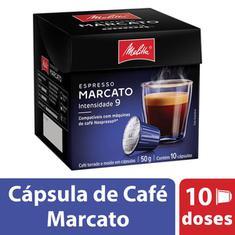 Cápsulas de Café Marcato Melitta 10x5g