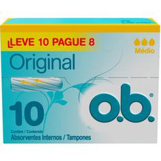 Absorvente Interno Original OB Leve 10 Pague 8 un.