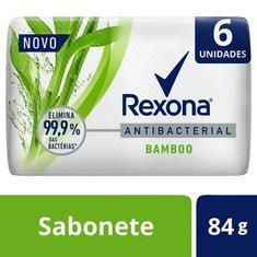 Pack Sabonete em Barra Antibacterial Bamboo Rexona 6x84g