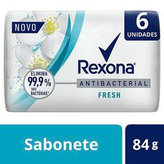 Pack Sabonete em Barra Antibacterial Fresh Rexona 6x84g