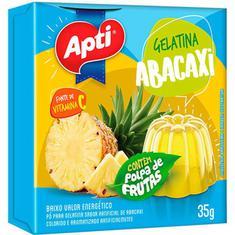 Gelatina em Pó Sabor Abacaxi Apti 35g