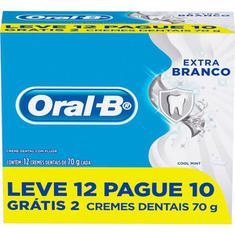 Creme Dental Extrabranco Oral B 70g Leve 12 Pague 10un.