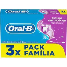 Creme Dental Escudo Anti Açúcar Oral B 70g 3un.