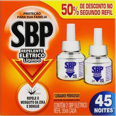 Repelente Elétrico Líquido SBP 35ml 2 un 50% de Desconto