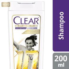 Shampoo Anticaspa Limpeza Hidratante Clear Sports 200ml