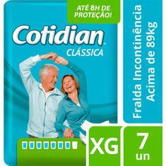 Fralda Geriátrica  Cotidian XG 7un
