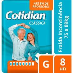 Fralda Geriátrica Cotidian G 8un