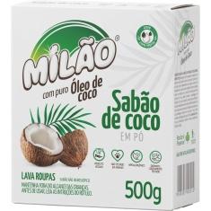 Lava Roupas em Pó de Coco Milão 500g