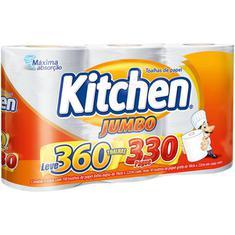 Toalha de Papel Kitchen Jumbo 3 Rolos Leve 360 Pague 330 Toalhas