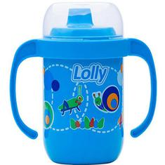 Copo Antivazamento com Alça Azul Lolly 250ml