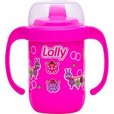 Copo Antivazamento com Alça Rosa Lolly 250ML