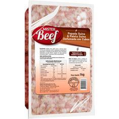 Bacon Papada Defumado em Cubos Mister Beef 1kg