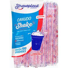 Canudo de Papel para Milkshake Strawplast 8mm 100un.