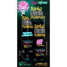 Kit Shampoo + Condicionador Vitay Novex Meus Cachos Santo Black Poderoso 300ml