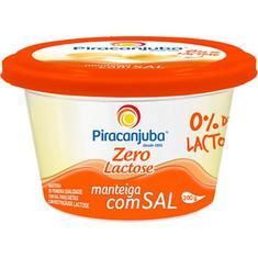 Manteiga com Sal Zero Lactose Piracanjuba 200g