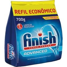 Detergente em Pó para Lava Louças Finish Power Powder Advanced 700g