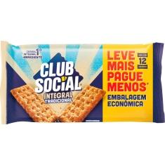 Biscoito Salgado Integral Club Social 288g