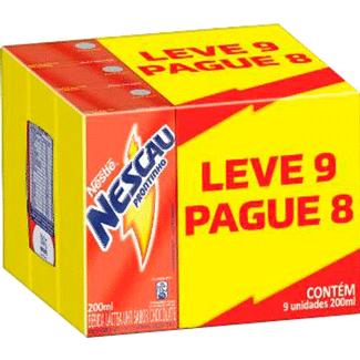 Achocolatado Nescau Prontinho 200ml Leve 9 e Pague 8