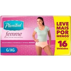 Fralda Geriátrica Plenitude Femme G/XG Leve 16 Pague 15
