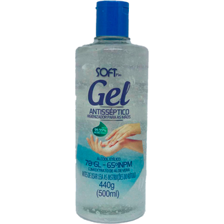 Álcool Gel Antisséptico Aloe Vera Softix 70% 440ml