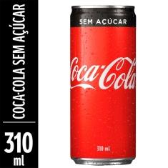 Refrigerante Coca-Cola Zero Sleek 310ml