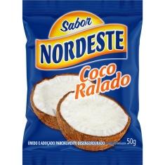 Coco Ralado Úmido Adoçado Sabor Nordeste 50g