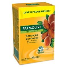 Sabonete Sensação Luminosa Palmolive Naturals 85g 8 Unidades
