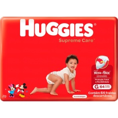 Fralda Supreme Care Hiper G Huggies 64Unidades