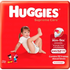 Fralda Supreme Care Hiper XXG Huggies 52 Unidades