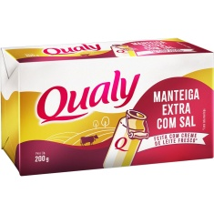 Manteiga Tablete Extra com Sal Qualy 200g