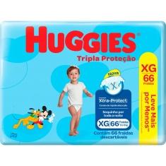 Fraldas Tripla Proteção Hiper XG Huggies 66 Unidades