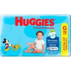 Fraldas Tripla Proteção Hiper G Huggies 78 Unidades