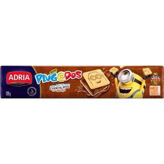 Biscoito Recheado Sabor Chocolate Plugados Adria 130g