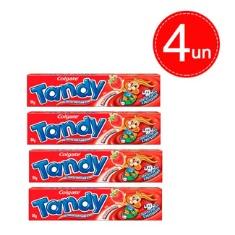 Creme Dental Infantil Sabor Morango Tandy 50g 4 un