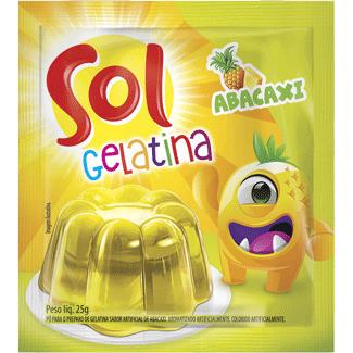 Gelatina em Pó Sabor Abacaxi Sol 25g