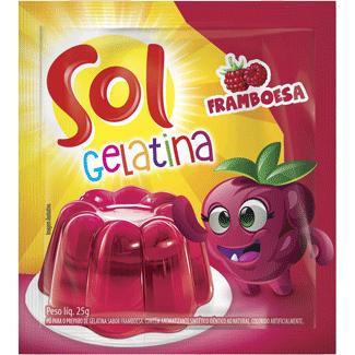 Gelatina em Pó Sabor Framboesa Sol 25g