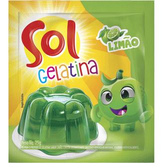 Gelatina em Pó Sabor Limão Sol 25g