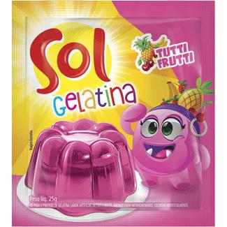 Gelatina em Pó sabor Tutti Frutti Sol 25g