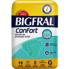 Fralda Descartável Adulto Confort G Bigfral 8 Unidades