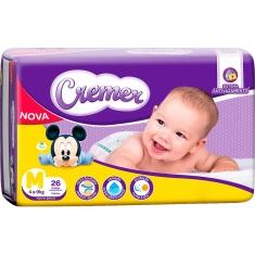 Fralda Disney Descartável Infantil M Cremer 26 Unidades