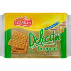Biscoito Cracker Integral Delicitá Vitarella 420g