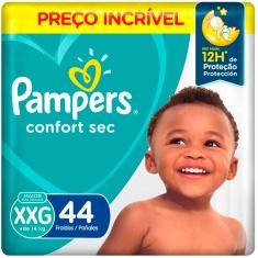 Fralda Descartável Infantil Confort Sec Pampers XXG 44 Unidades