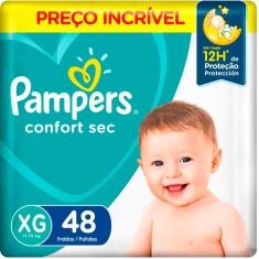 Fralda Descartável Infantil Confort Sec Pampers XG 48 Unidades