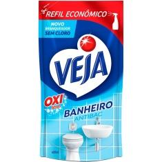Limpador Anti Bac Banheiro Oxi Refil Veja 400ml