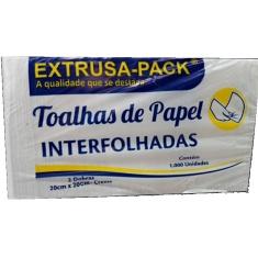 Toalhas de Papel Interfolhadas Creme Extrusa 20x20 c/ 1000un